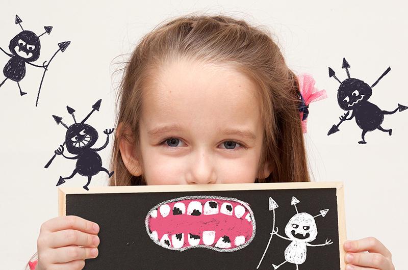 子供の歯は虫歯になりやすい